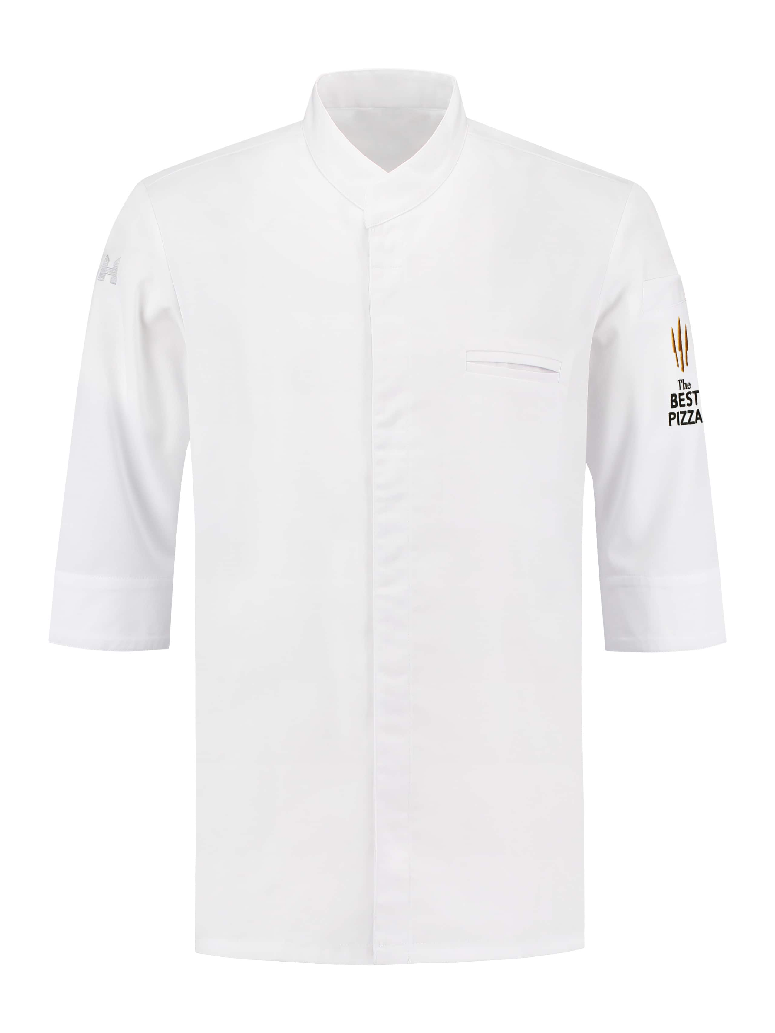 Chef Jacket The Best Pizza Fabian White