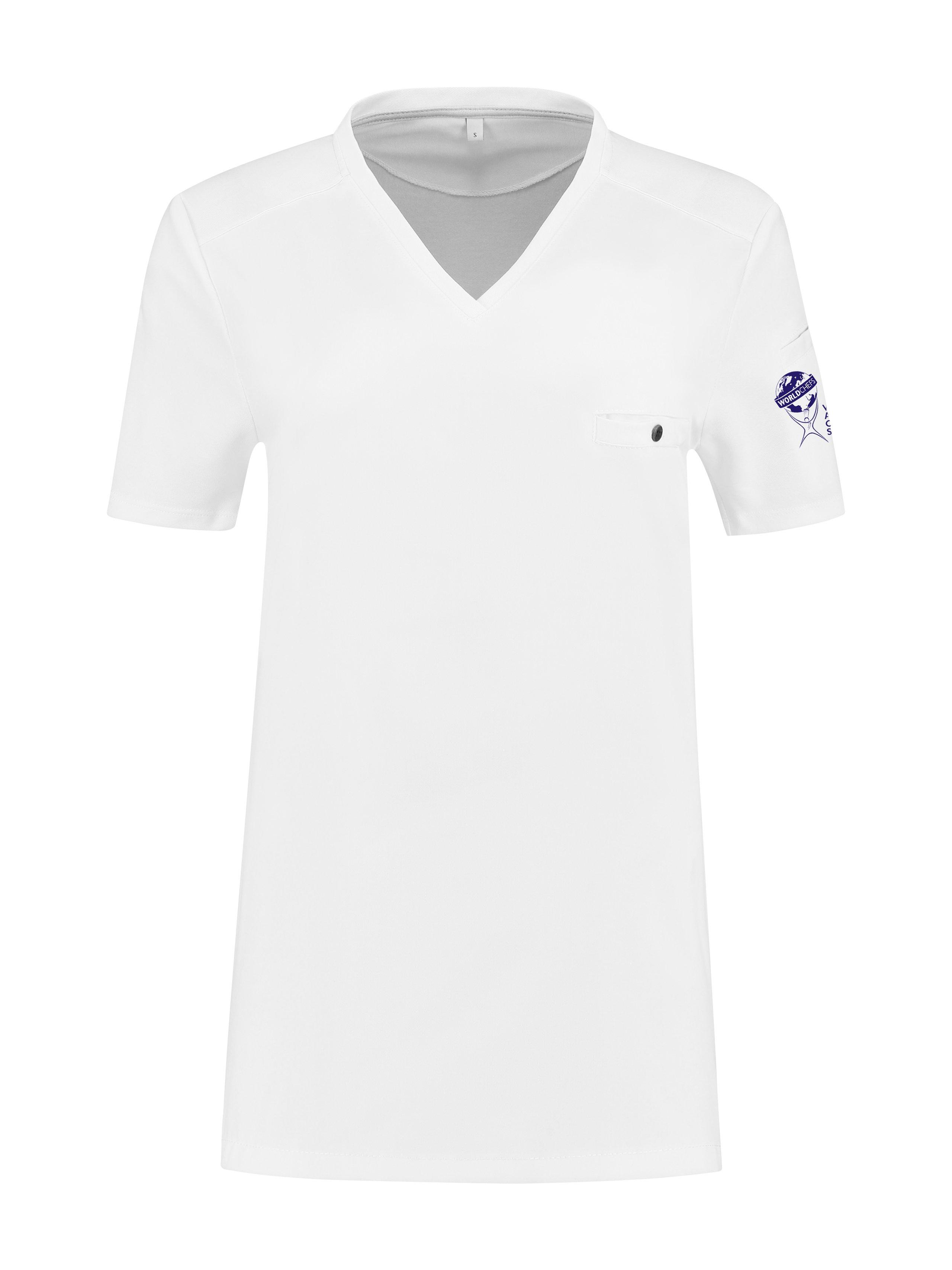 T-Shirt Worldchefs Fae Weiß