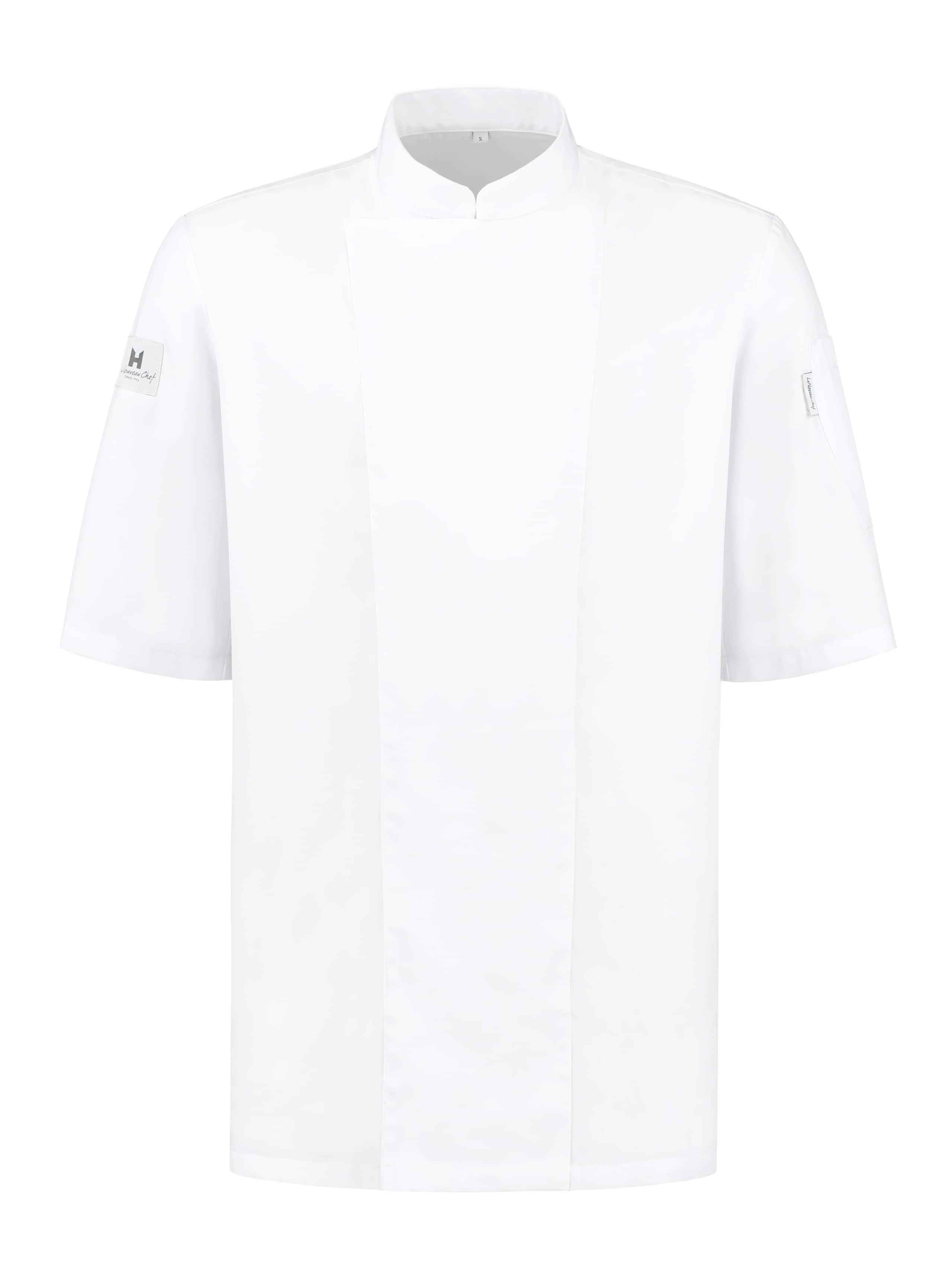 Chef Jacket Basix 1 Short Sleeve White